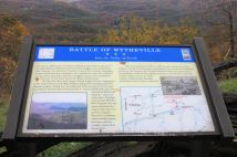 Battle of Wytheville sign