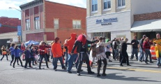 Thriller flash mob dance