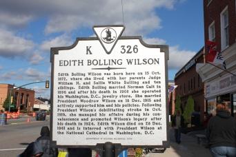 Edith Bolling Wilson sign