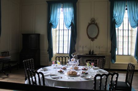 Dining room in Governor's Palace