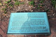 Plaque at College of William and Mary