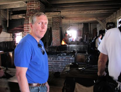 Phil in blacksmith shop