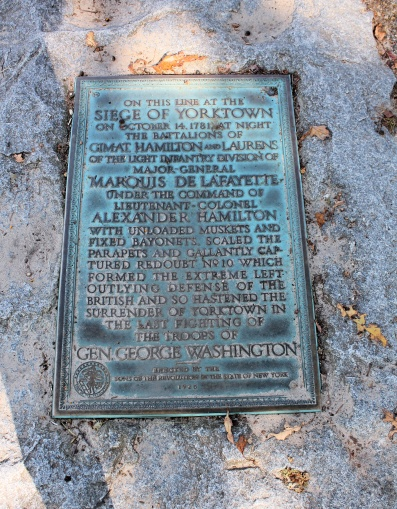 Yorktown plaque