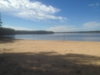 Swimming beach at Falls Lake SRA