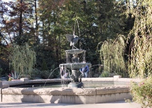 Fountain in Sarah P. Duke Gardens