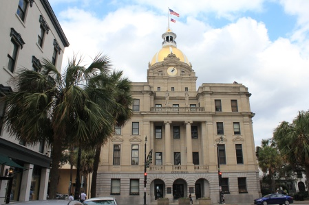City Hall (c1905) with dome gilded in 23 kt gold