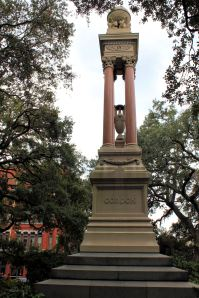 Monument to William Washington Gordon, founder of Central Railroad and Banking Company of Georgia