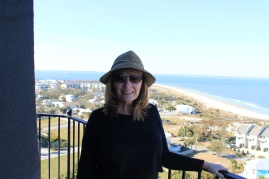 Jan from top of Tybee Island Lighthouse