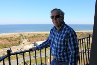 Phil at top of Tybee Island Lighthouse