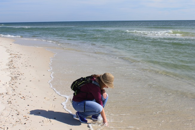 Jan playing in Gulf of Mexico