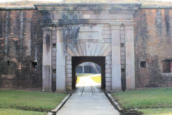 Sally Port, main entrance into Fort Morgan