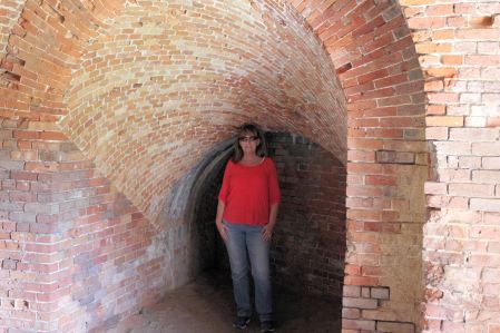 Jan in casemate (rooms within fort walls)