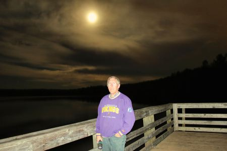 """Super Moon"" from fishing pier at Falls Lake SRA"