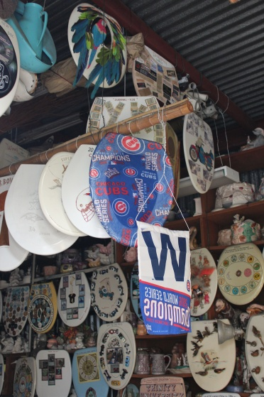 Chicago Cubs world championship seat and banner