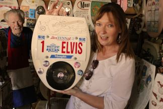 Jan & Barney with front of Elvis seat