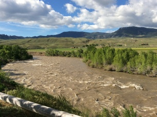 View of Shoshone River from our door