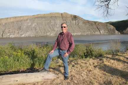 Phil posing in front of Yellowstone River