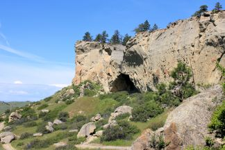 Cliff near Pictograph Cave