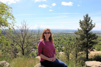 Jan overlooking Billings