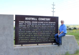 Phil at Boothill sign