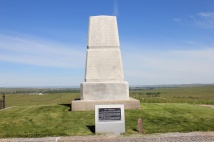 Memorial honoring the men who died at Last Stand Hill. This plot also serves s the mass grave for most of the casualaties.