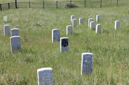 Marker showing where George Custer fell
