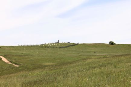 View of Land Stand Hill from where the Indians attacked