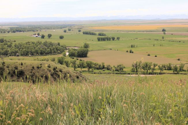 View of Little Bighorn River where Major Reno attempted to attack Indian encampment