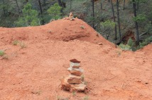 Cairn we built to bring us good luck