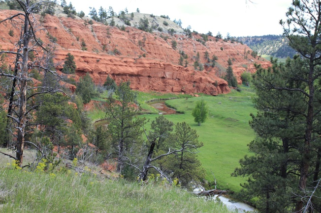Red hills above Belle Fourche River