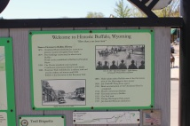 Sign detailing Buffalo, WY history