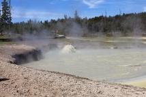 Caldera at Mud Volcano