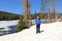 Phil by snowy pond