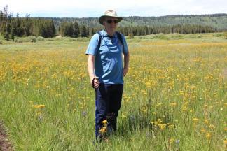 Phil on Golden Lake Trail