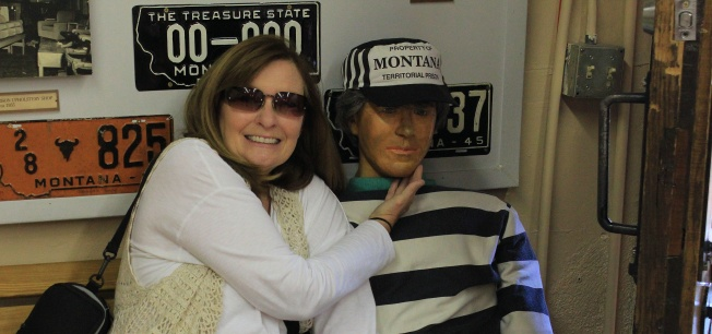 Jan with her convict friend