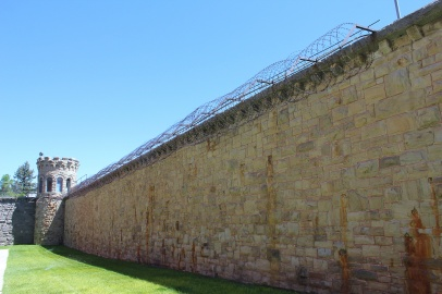 Prison wall and tower