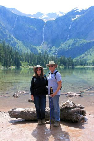 Phil and Jan at Avalanche Lake