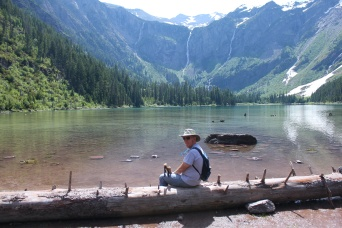 Phil at Avalanche Lake