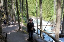 Jan by Avalanche Creek gorge