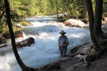 Phil by Avalanche Creek gorge