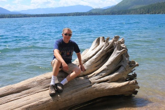 Phil on shore of Lake McDonald
