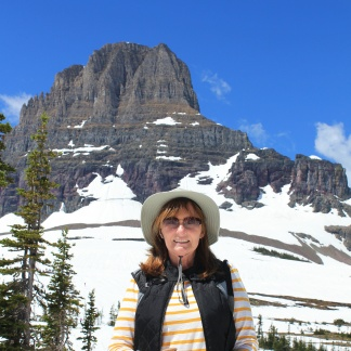 Jan at Logan Pass