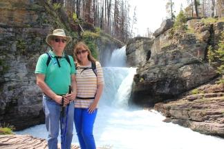 Phil and Jan at St. Mary Falls