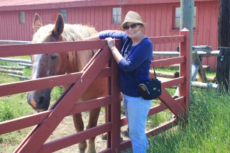 Jan and her horse friend