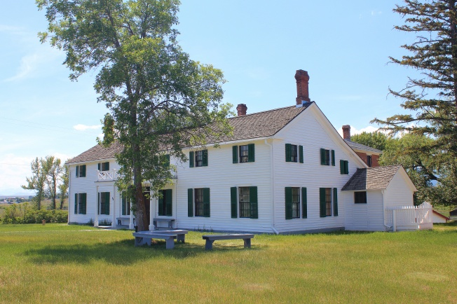 Front of ranch house