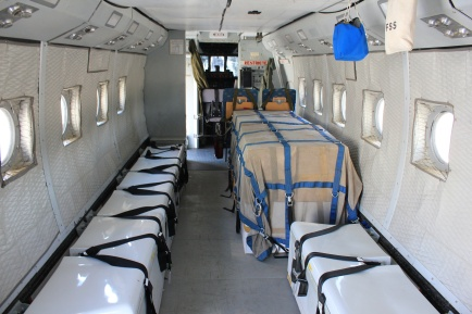 Inside smokejumping plane
