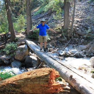 Phil crossing creek