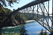 View of Deception Pass channel