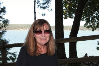 Jan at Sequim Bay State Park picnic area