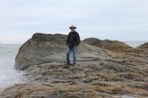 Phil on rocks
